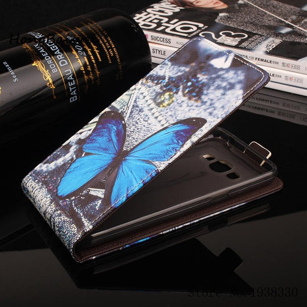 Hongbaiwei 5 Painted Patterns Wallet Style Case For Samsung Galaxy J2 Prime Leather Flip Cover PU Phone Bag For Samsung J2 Prime