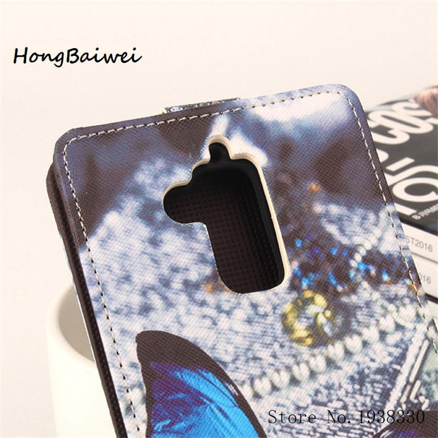 Hongbaiwei 5 Painted Styles Luxury Leather Flip Case For Asus Zenfone 3 Max ZC520TL Smartphone Wallet Cover Phone Cases StandWit