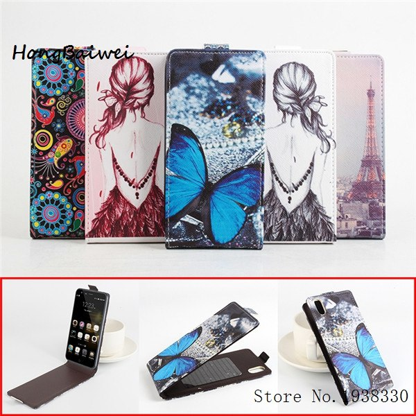 Hongbaiwei 5 Painted Styles Ulefone Paris Case Original Official Flip Leather Case Cover For Ulefone Paris Smartphone Case Stand