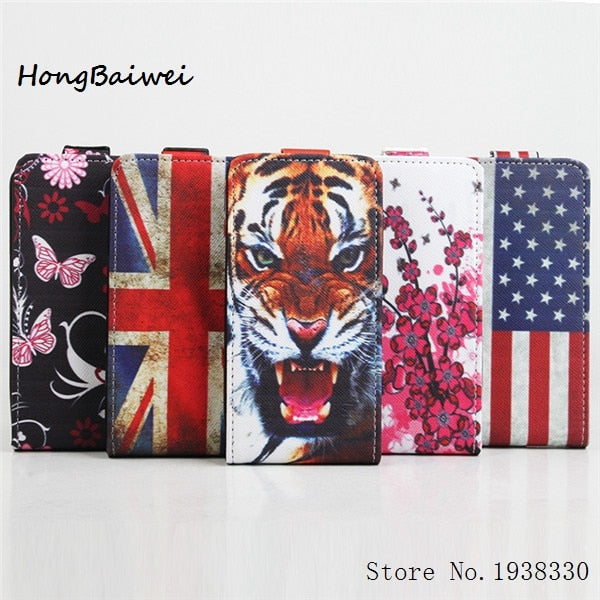 Hongbaiwei 5 Painted Styles New Luxury Ultra Thin Flip Cover Leather Case For Explay Tornado With Dustproof And Shockproof Funct