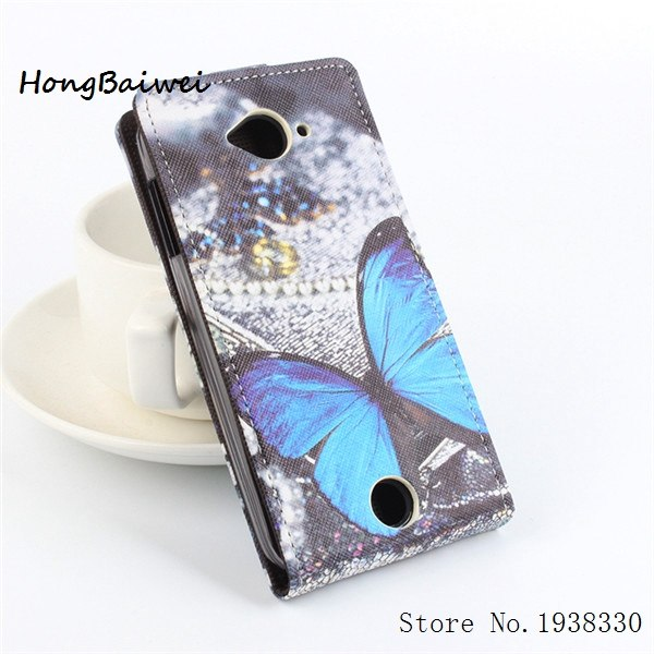 Hongbaiwei 5 Styles Painted For Acer Liquid Z530 Cover Butterfly Leather Wallet Stand Case For Acer Liquid Z530 Mobile Phone Bag