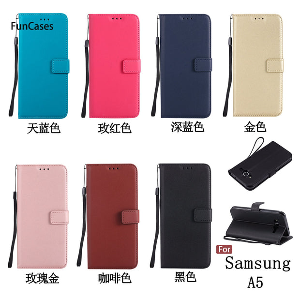 "Hot Wallet Phone Case SFor Etui Samsung A5 Soft Silicone Back Cover Back Cute Half Wrapped Case For Samsung Galaxy A500 5.0"" Bag"