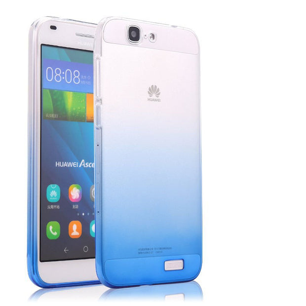 Huawei G7 Case Transparent Soft Silicone Shell Ultra Thin Color Gradient Cover