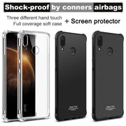 Huawei Honor Play Case IMAK Shockproof Transparent Silicone Soft TPU Back Cover Case For Huawei Honor Play With Film