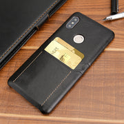 Hunreone Double Card Pockets Wallet Case Cover For Xiaomi Redmi Note 5 Pro