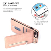 Hxairt Zipper Wallet Leather Case For IPhone X 8 7 7 Plus 6 6S Plus Flip Phone Case Luxury Cover With Card Pocket And Kickstand