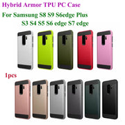 Hybrid Rugged Armor Case For Samsung Galaxy S3 S4 S5 S6 Edge S7 Edge S8 S9 Plus Shockproof Glossy 2 In 1 TPU PC Hard Phone Cover