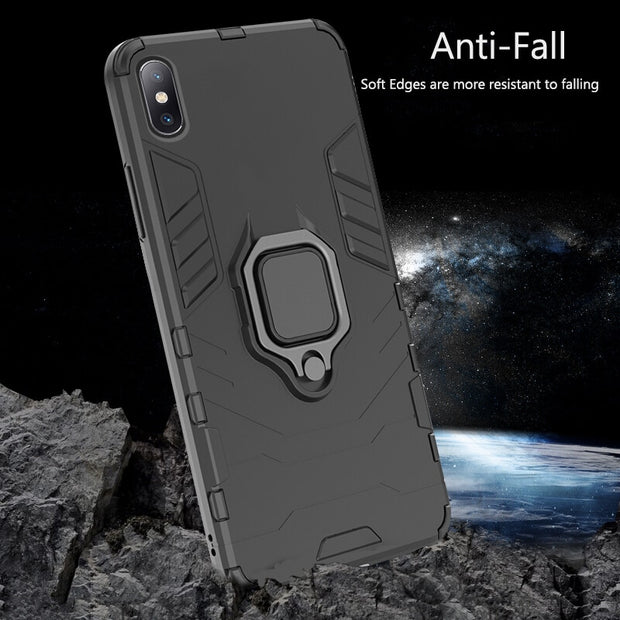 Hybrid Silicone Hard PC Case For IPhone XS Max XR X 8 Armor Phone Case Shockproof Robot For IPhone 7 8 6 6S 5 SE 5S 7 Plus Cases