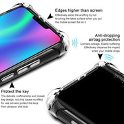 IMAK Huawei Honor 8C Case Honor 8C Cover Silicone Shock-Resistant Shockproof Soft TPU Back Cover Phone Cases