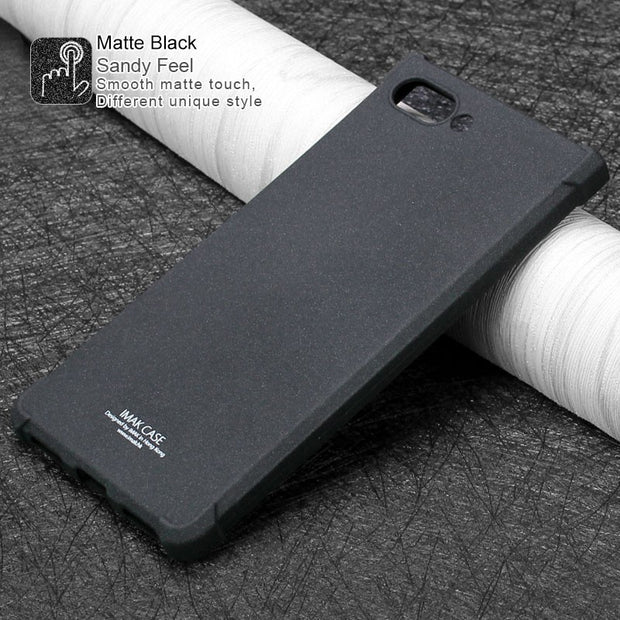 IMAK SFor Blackberry Key2 Le Case Shockproof AirBag Series Soft TPU Silicone Back Cover For Blackberry Key 2 Le With Film