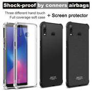 IMAK SFor Samsung A6S Case Shock-Resistant Shockproof Soft TPU Back Cover Case For Samsung Galaxy A6S SM-G6200 With Film