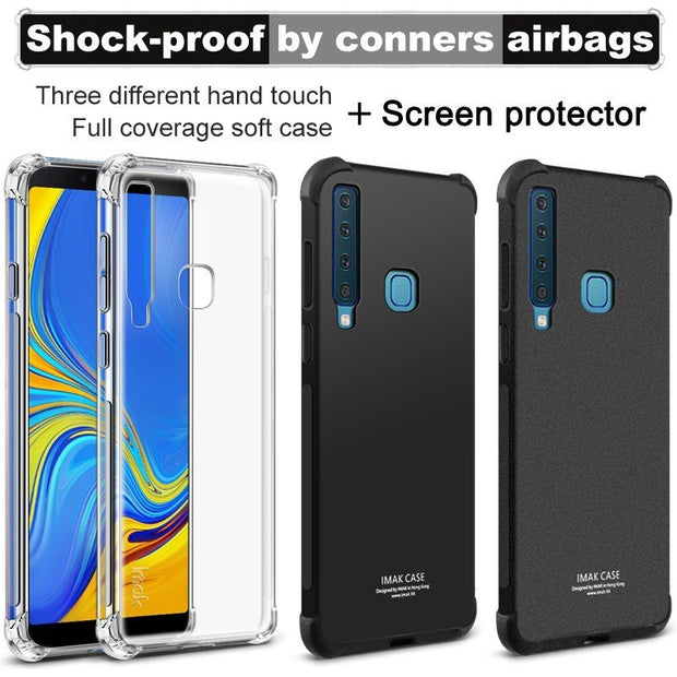IMAK SFor Samsung A9S Case Shock-Resistant Shockproof Soft TPU Back Cover Case For Samsung Galaxy A9 Star Pro/A9 2018