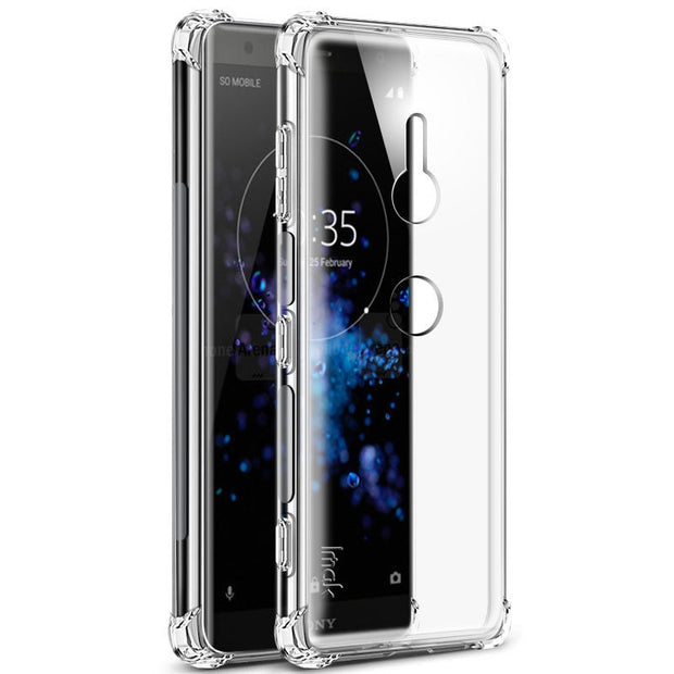 IMAK SFor Sony Xperia XZ3 Case SFor Sony XZ3 Case Silicone Airbag Shockproof Series Soft TPU Case For Sony Xperia XZ3 Cover