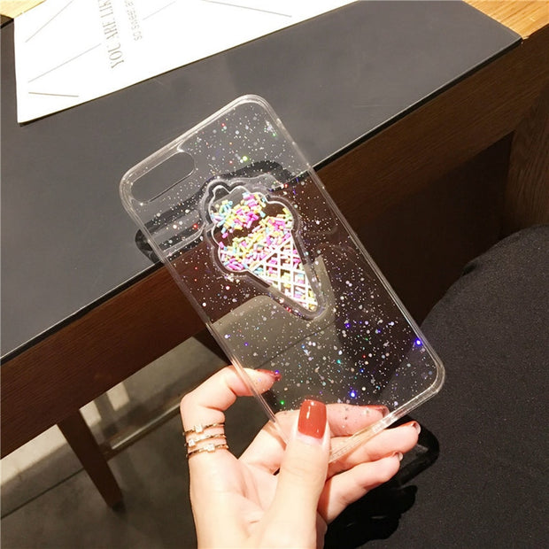IWVX Phone Case For Iphone 6 6s 7 8 Case Fashion Back TPU Cover Cases For Iphone X 8Plus Case