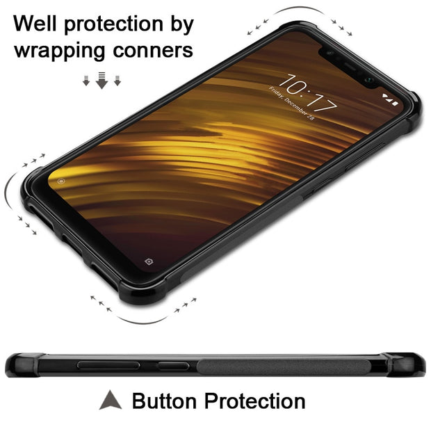 Imak Vega Carbon Fiber Grain Anti-dropping Airbag Shock-proof And Anti Fingerprint Soft Back Cover Case For Sony Xperia XZ3 /XZ4