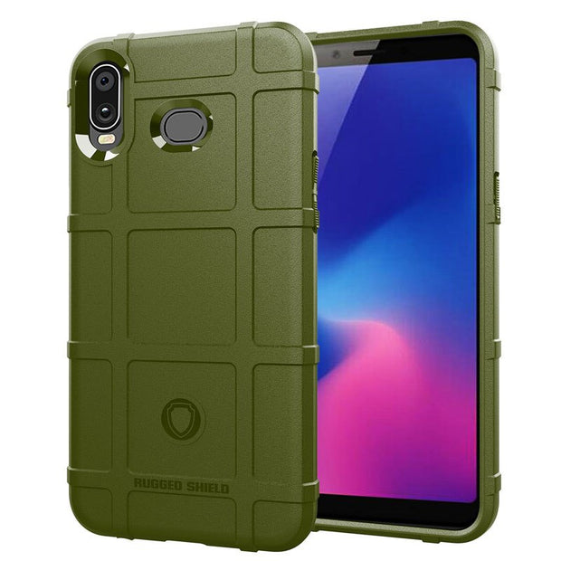JIATEXIN Shield Series For Samsung Galaxy A6s Shockproof Armor TPU Case For Galaxy A7 (2018) Shell Defend Cover Capa Fundas
