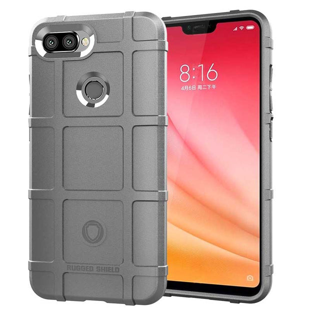 JIATEXIN Shield Series For Xiaomi Mi 8 Lite Shockproof Armor TPU Case For Xiaomi Mi 8 Youth/Mi 8X Shell Defend Cover Capa Fundas