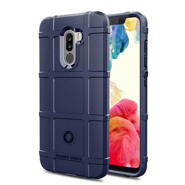 JIATEXIN Shield Series For Xiaomi Pocophone F1 Shockproof Armor TPU Case For Poco F1 Shell Armour Defend Cover Capa Fundas