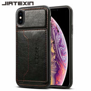JIATEXIN TPU Bumper Case For Apple IPhone XS Max PU Leather Cover Shell For IPhone XS/For IPhone XR Holder With Card Pocket Capa