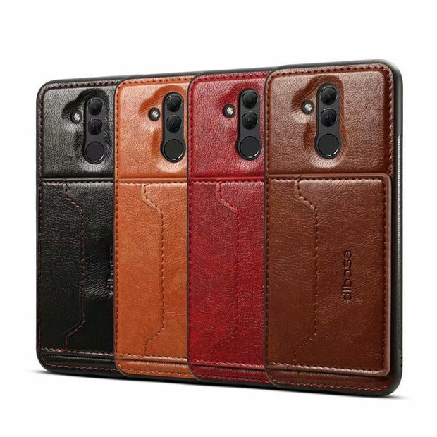 JIATEXIN TPU Bumper Case For Huawei Mate 20 Lite PU Leather Cover Shell For Mate20 Lite Stand Holder With Card Pocket Capa