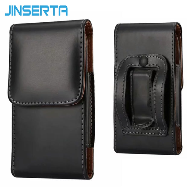 JINSERTA Waist Bag For IPhone X XS 8 7 6S Plus Samsung Xiaomi 6.3 Inch Mobile Phone Cover Belt Clip Pouch Case Waist Pack