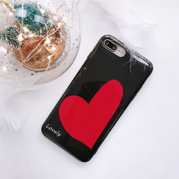 JiBan For Iphone X Cute Girl Love Heart Moblie Phone Cases Fashion English Letter IMD TPU Soft Shell Case For IPhone 6s 7 8 Plus