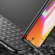 JiBan Luxury Woven Silicone Case For IPhone X Braided Leather Soft Phone Cover For IPhone 6 6S 7 8 Plus Breathable Grid Cases