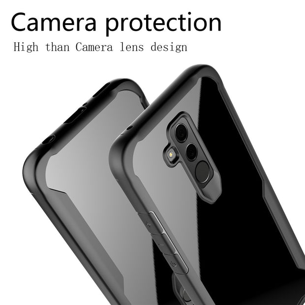 KDTONG Case For Cover Huawei Mate 20 Lite Case Luxury Soft Silicone + Transparent PC Cover For Huawei Mate 20 Lite Case Cover