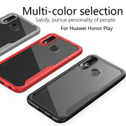 KDTONG Case SFor Cover Huawei Honor Play Case Luxury Soft Silicone + Transparent PC Cover For Coque Huawei Honor Play Case Capa