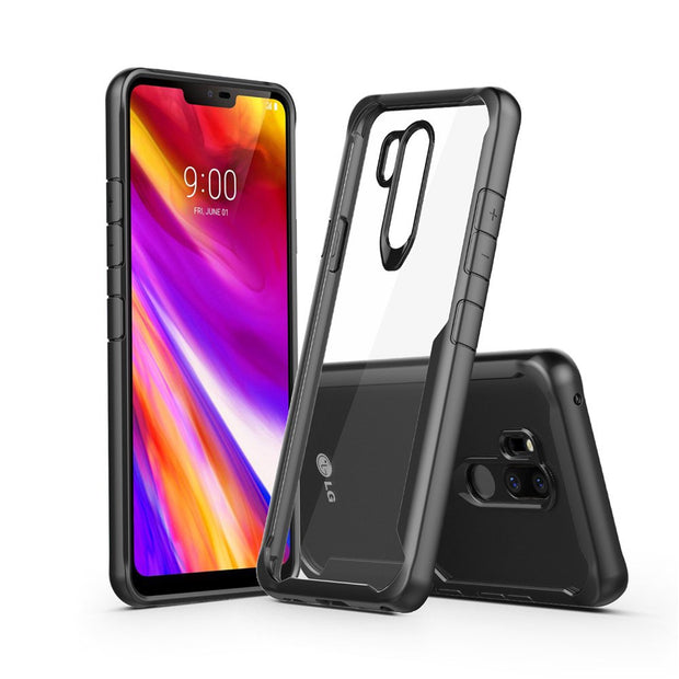 KDTONG Phone Case SFor Cover LG G7 Case Luxury Soft Silicone + Transparent PC Cover Case For Coque LG G7 G 7 Case Cover Capa 6.1
