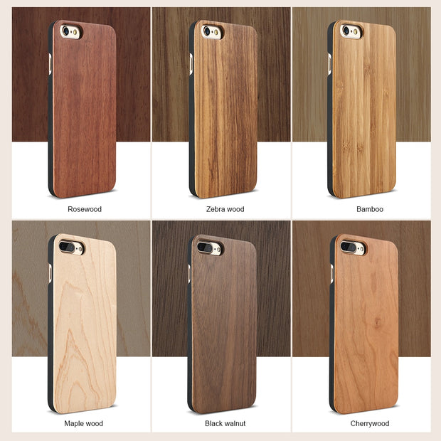 KISSCASE Bamboo Phone Case For IPhone X 7 Xs Max 8 Plus XR Retro Real Wood Case For IPhone 5 5S Se 6 6S Plus Back Cover Capa