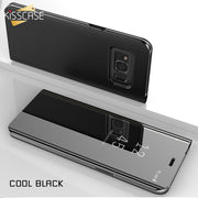 KISSCASE Case For A8 A7 A9 A6 Plus A8 Plus A6 2018 Luxury Fipped Case Mirror-Size Stander Case For Samsung A7 A3 A5 2017 Capinha