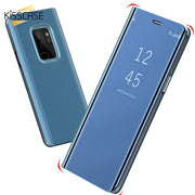 KISSCASE Case For OPPO A5 A3S A3 A7 Luxury Fipped Case Mirror-Size Stander Case For OPPO F7 A83 R17 Pro R17 A71 Capinhas Coque