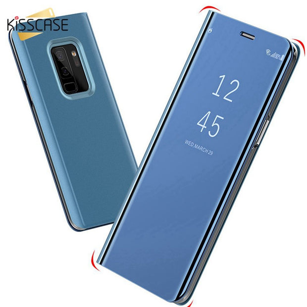 KISSCASE Case For Xiaomi Redmi 4X 5 5 Plus 6 6A 6 Pro S2 Luxury Flipped Case Mirror-Size Stander Phone Cover For Note 4X Note 5