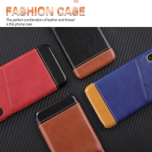 KOMYTOO Genuine Leather Phone Case For IPhone X 7 8 Luxury Shockproof Card Holder Pocket Cover Case For IPhone 8 7 6 6s Plus