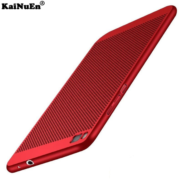 KaiNuEn Luxury Ultra Thin Hard Plastic Radiating Back Capinha Coque Cover Case For Huawei P8 P 8 Phone Cases Pc Back Accessories