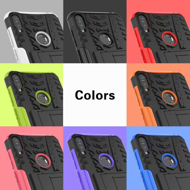 Kickstand Armor Phone Hybrid Case For ASUS Zenfone Max Pro M1 ZB601KL Impact Coque Shockproof Heavy Duty Fundas Cover Shell