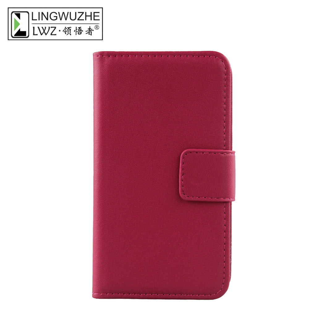 buy online e7907 d56b2 LINGWUZHE Business Style Cell Phone Case Genuine Leather Flip Cover For BLU  Vivo 8 5.5''