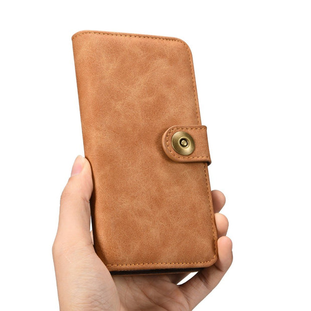 LOVECOM For IPhone XS MAX Case Retro 2 In 1 PU Leather Flip Wallet Phone Case For IPhone 5 5S SE 6 6S 7 Plus X XS XR Samsung S7