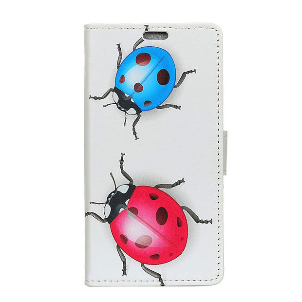 Ladybug Cat Owl Bird Case For Motorola P40 Fruit Trees Tiger Leather Flip Cover Stand Wallet Card Money Slot Case For MOTO P40