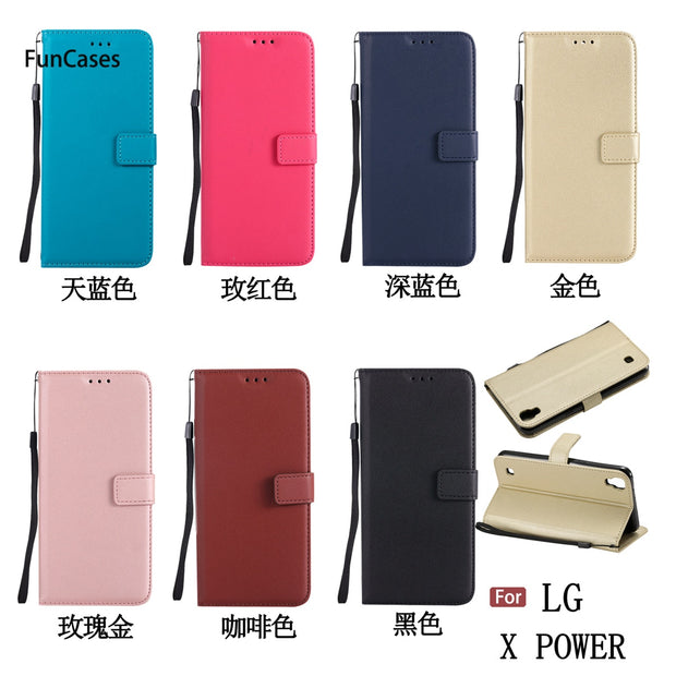 Latest PU Leather Case SFor Celular LG X Power Holsters Clips Case Telefon Animal Phone Accessory For LG X Power Mobiles Case