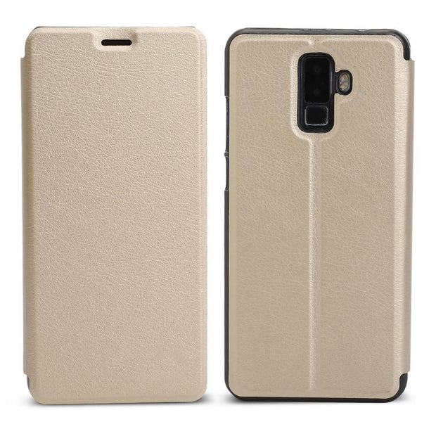 Leather Bracket Cover Scratch Resistance Phone Case Gold, Blue, Black Holder For Leagoo M9