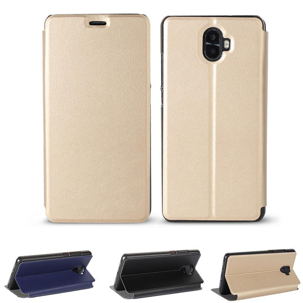 Leather Bracket Cover Scratch Resistance Phone Gold, Blue, Black Case Holder For Oukitel K8000