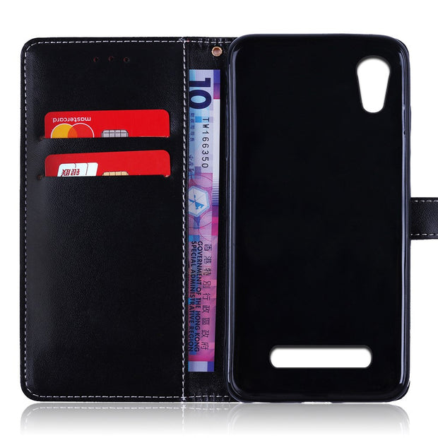 Leather Case For ZTE Blade X3 A452 D2 T620 Q519T Blade D2 Blade T620 5.0 Inch Case TPU Cover Phone Bag For ZTE Blade X3 A452