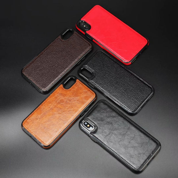Leather Magnetic Car Holder Cover For Iphone 6 7 8 Plus X XR XS MAX Cover For Samsung Galaxy S8 S9 Plus S6 S7 Edge Phone Cases