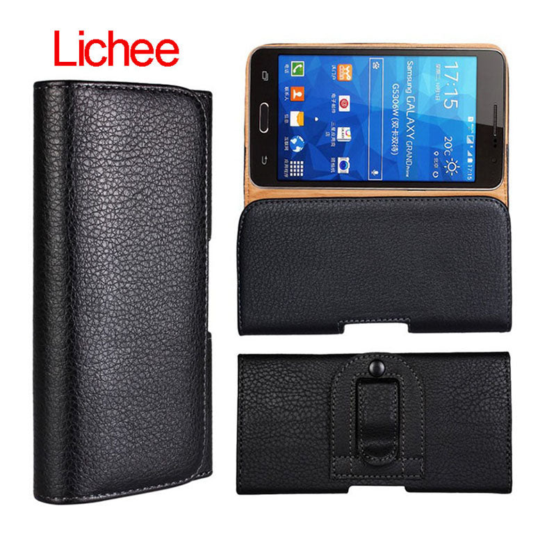 new product 3c26e 6c87c Leather Waist Bag Clip Belt Pouch Mobile Phone Holster Cover Case For Nokia  Microsoft Lumia 950 XL 5.5 Inch Universal Cases
