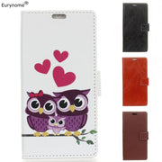 Litchi Pattern Crazy Horse Cartoon Owl Wallet Card Photo Frame Pu Leather Stand Flip Cover Case For MEIZU M5s Meilan M5s Mini