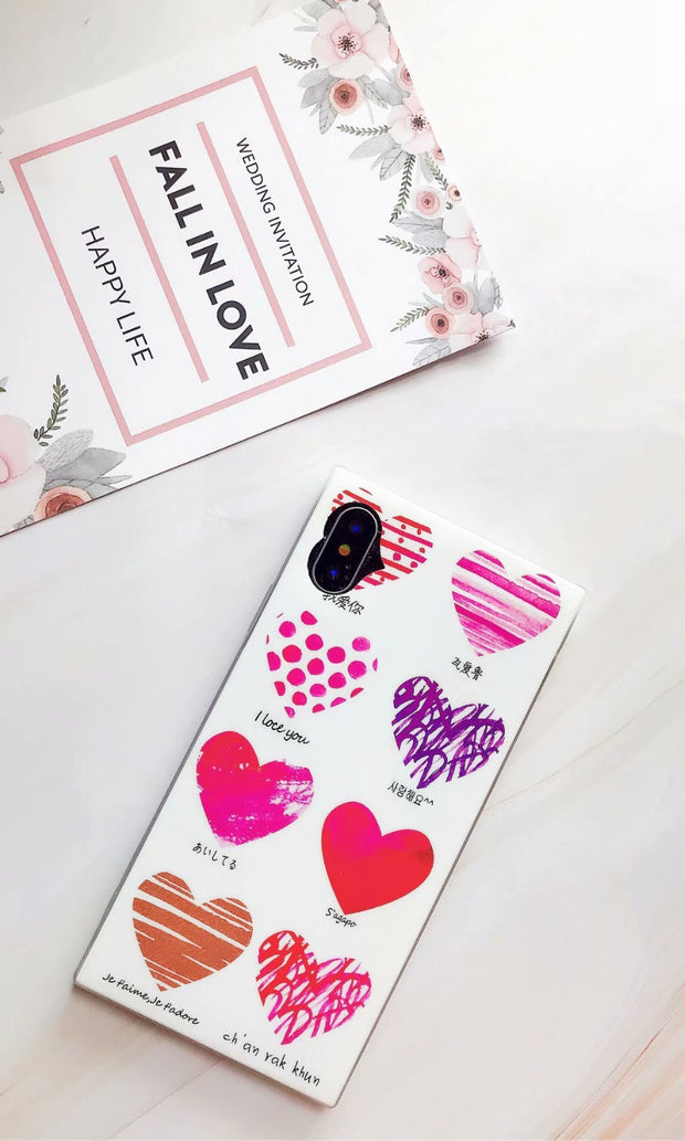 Love Heart Phone Case For IPhone X Cartoon Cases For IPhone X 7 7plus 8 8plus 6 6S 6Plus Soft TPU Protection Back Cover