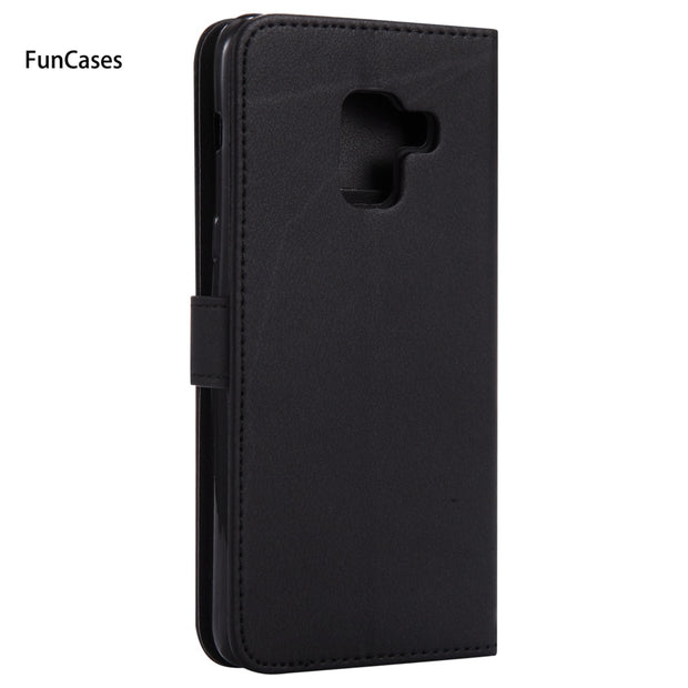 Luxurious Flip Phone Case SFor Capinha Samsung A8 2018 Soft Silicone Phone Case Mobile Samsung Galaxy A530 A5 2018