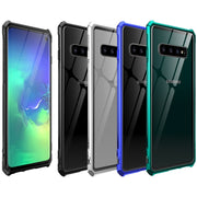 Luxury Aluminum Metal Armor Case For Samsung Galaxy S10 E S10e Shockproof Back Cover For Samsung Galaxy S10 Plus S10+ Glass Case